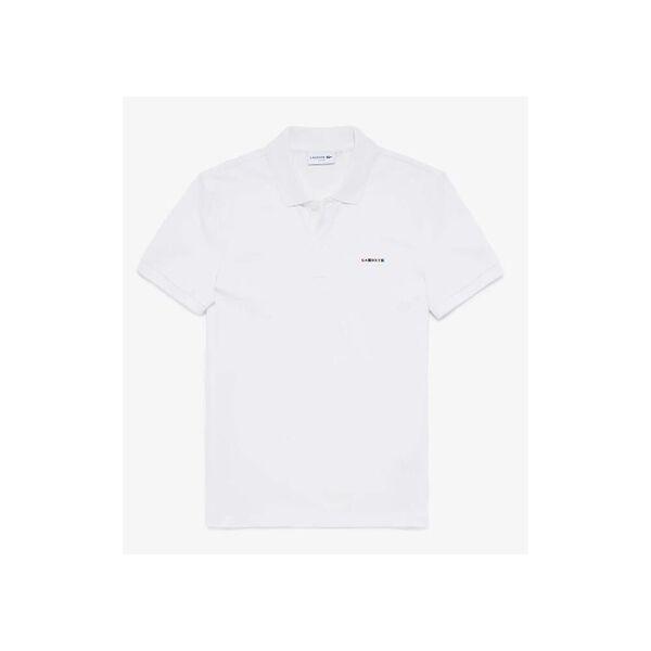 Men's Tricolor Signature Badge Polo Shirt, FLOUR, hi-res