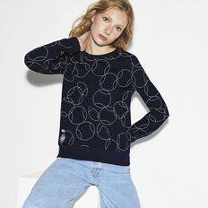WOMEN'SFRENCH OPEN PRINT FLEECE SWEATSHIRT