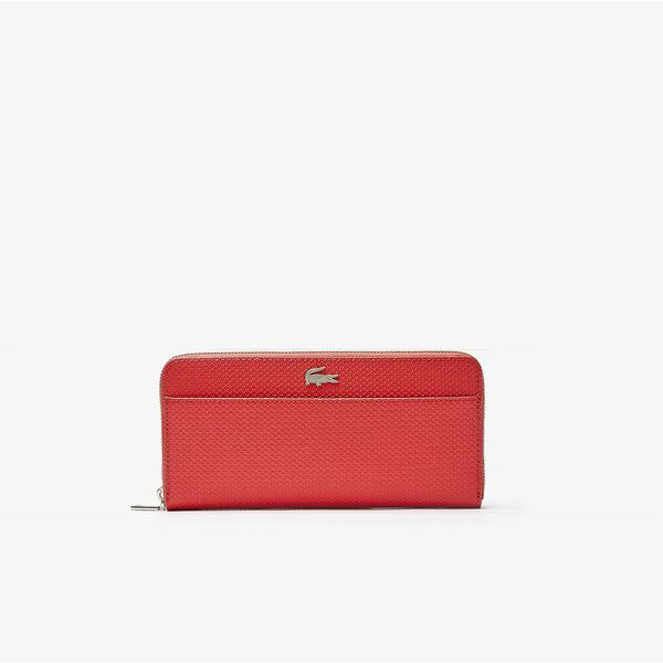 Women's Chantaco Piqué Leather 12 Card Zip Wallet