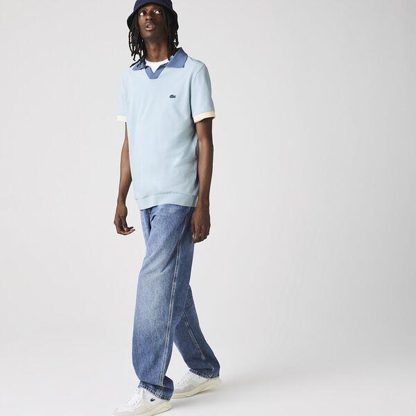Men's Regular Fit Fresh Cotton Piqué Polo, CHAMBRAY/KING, hi-res