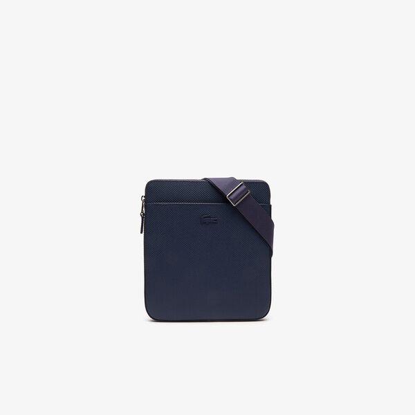 Men's Chantaco Matte Piqué Leather Flat Zip Bag