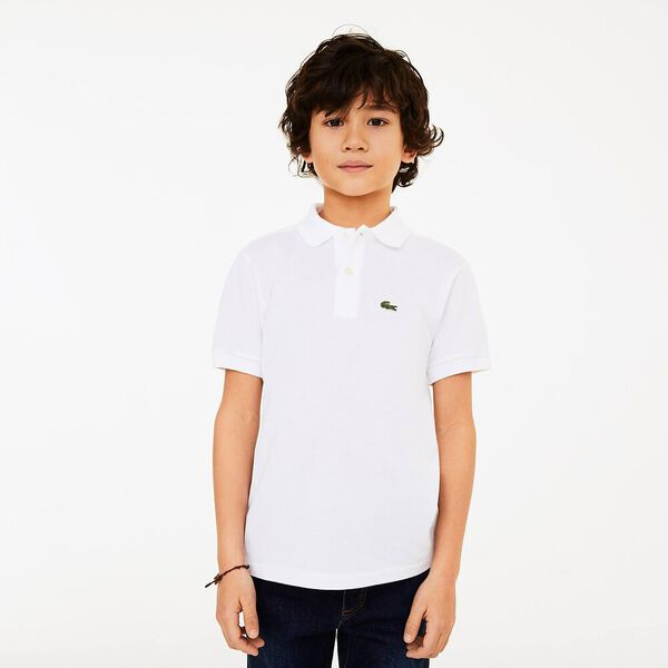 Classic Kids Polo, WHITE, hi-res