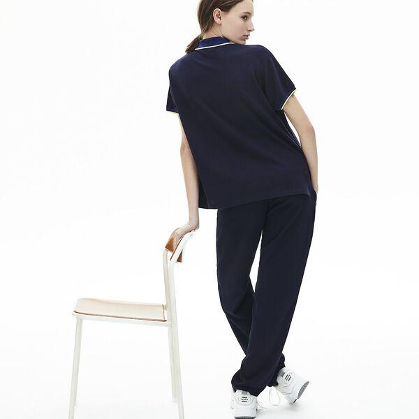 Women's Relax Fit Lacoste Polo Shirt, MARINE/METHYLENE-SUBAL, hi-res