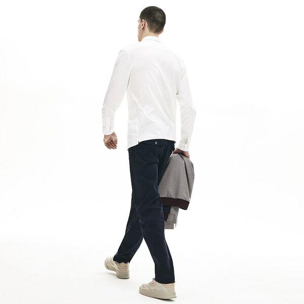Men's Classic Long Sleeve Flex Poplin Shirt, WHITE, hi-res