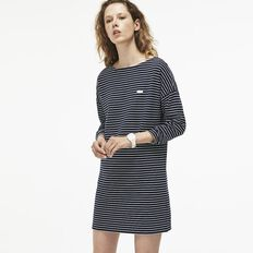 WOMEN'S LS STRIPE DRESHORT SLEEVE