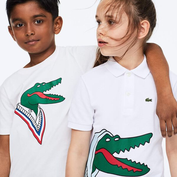 Boys' Lacoste x Jean-Michel Tixier Print Cotton Polo Shirt