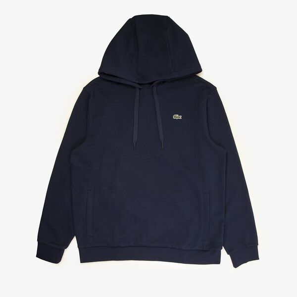 Men's Tennis Training Non Brushed Hoodie, NAVY BLUE/SILVER CHINE, hi-res