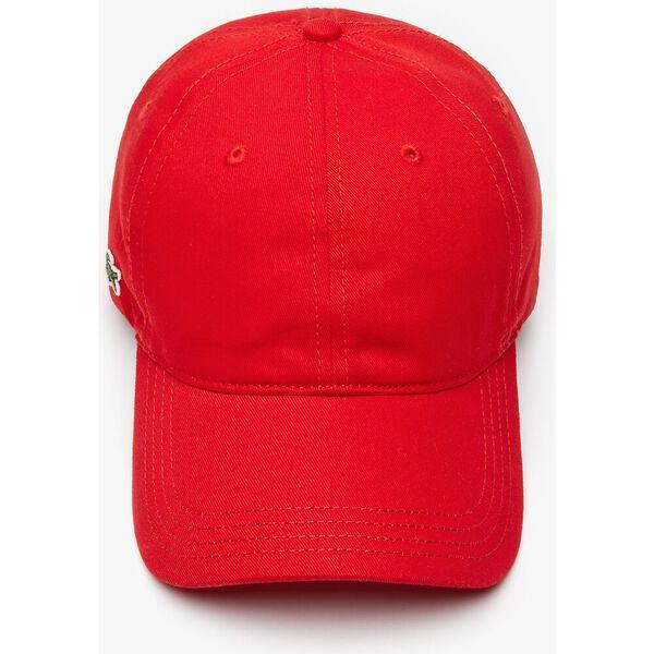 Contrast Strap Cotton Cap, ROUGE, hi-res