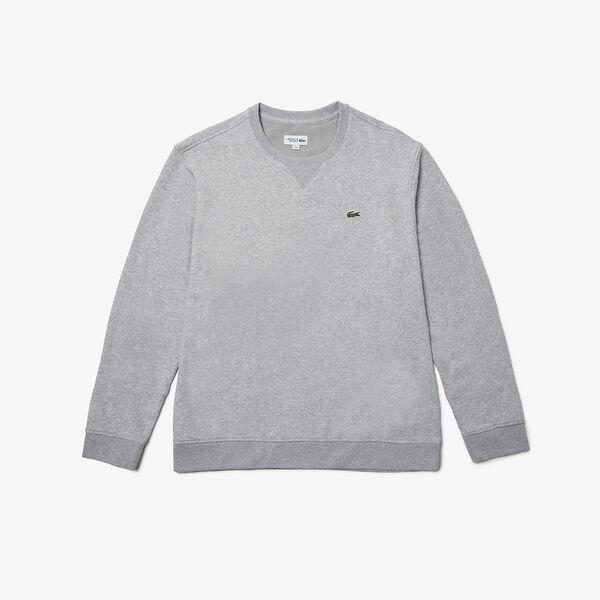Men's SPORT Fleece Crew neck Sweatshirt, SILVER CHINE, hi-res