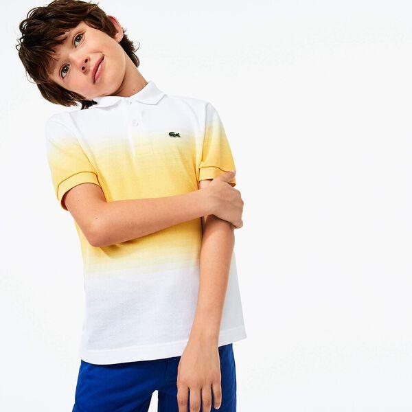 Boy's Made in France Organic Cotton Piqué Polo Shirt