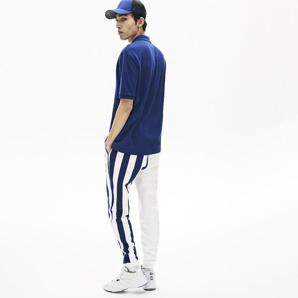 Men's Lacoste LIVE Loose Fit Cotton Piqué Polo Shirt, METHYLENE, hi-res