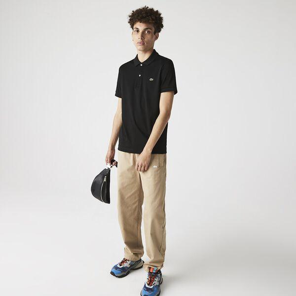 Men's Regular Fit Pima Cotton Polo, BLACK, hi-res