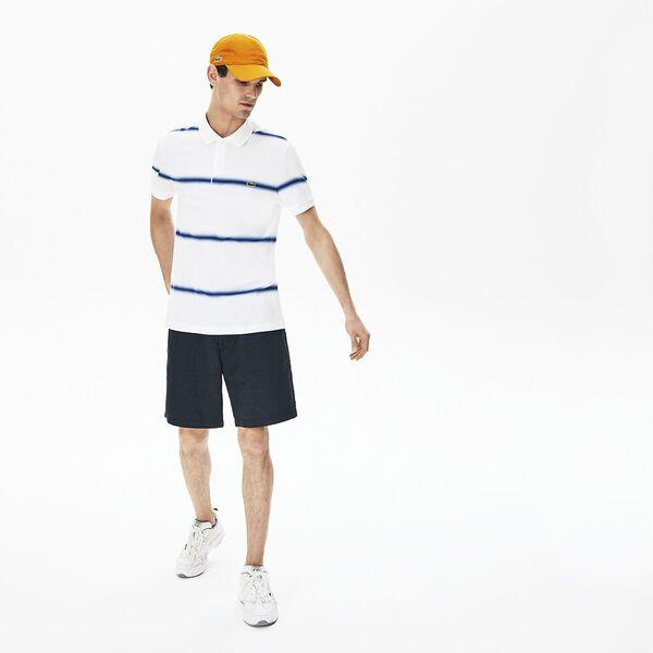 Men's Made in France Regular Fit Cotton Piqué Polo Shirt, BLANC/METHYLENE, hi-res