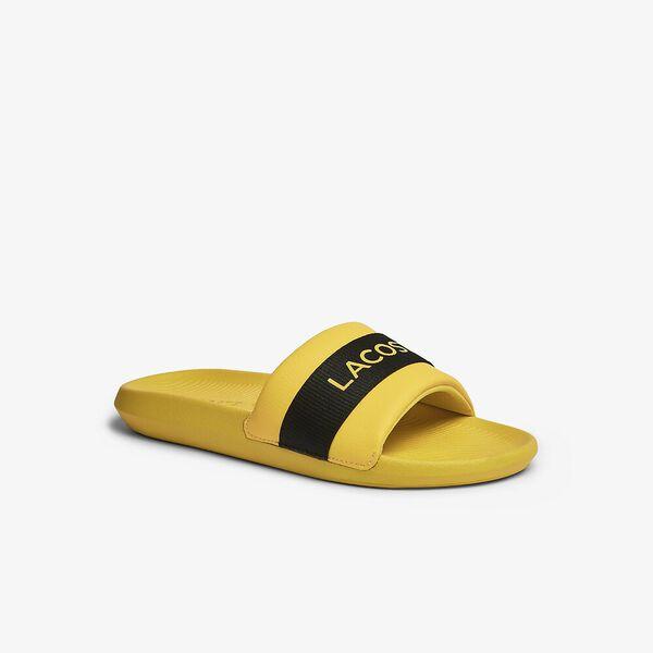 Men's Croco Logo Slides