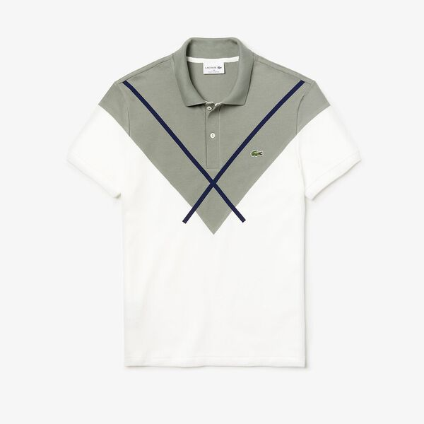Men's Made In France Reg Fit Polo, FLOUR/SERGEANT-NAVY BLUE, hi-res