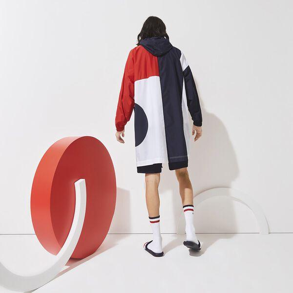 Men's SPORT French Sporting Spirit Oversized Raincoat, NAVY BLUE/RED-WHITE, hi-res