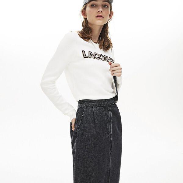 Women's Black Denim Cotton Skirt