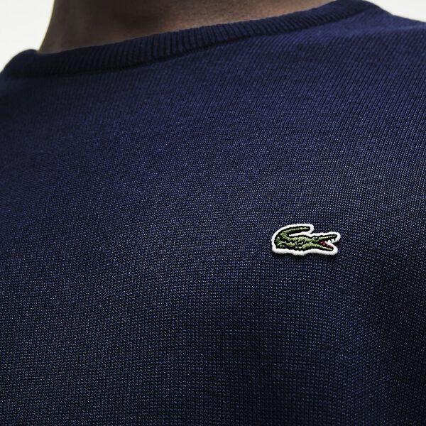 Men's Classic Cotton Crew Neck Knit, NAVY BLUE/FLOUR-NAVY BLUE, hi-res
