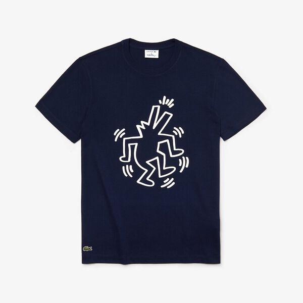 MEN'S KEITH HARING CROCODILE TEE, NAVY BLUE, hi-res