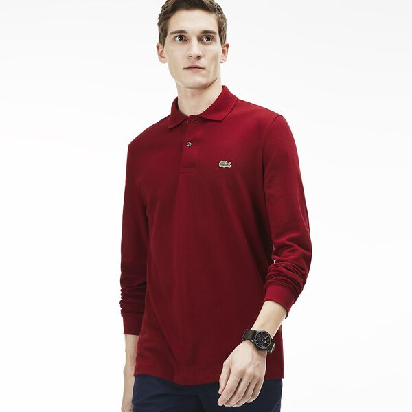 Men's Long Sleeve Classic Fit Polo