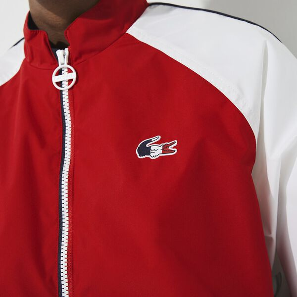 Women's SPORT French Sporting Spirit Water-Resistant Zip Jacket, RED/WHITE-NAVY BLUE, hi-res