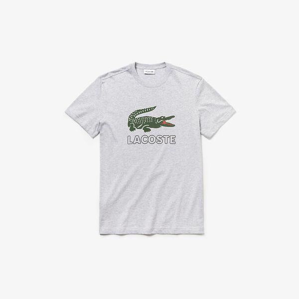 Men's Lacoste Croc Tee, SILVER CHINE, hi-res