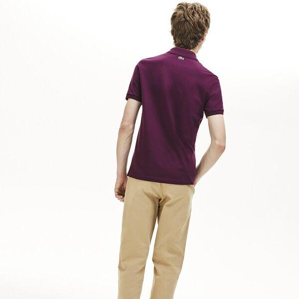 Men's 3D Slim Fit Polo, EGGPLANT, hi-res