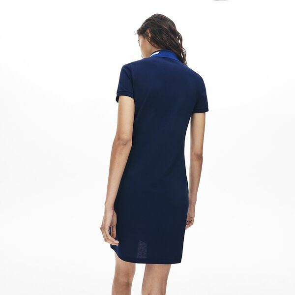 Women's Clean Stripes Fit Polo Dress, NAVY BLUE, hi-res