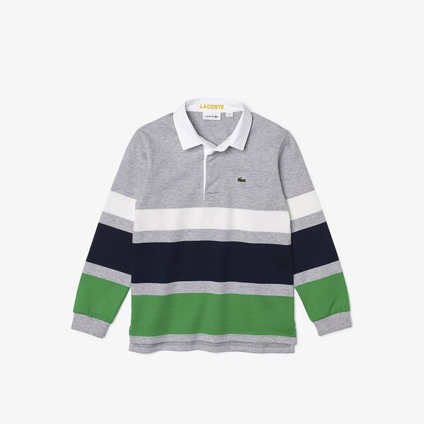 Boys' Striped Rugby Polo
