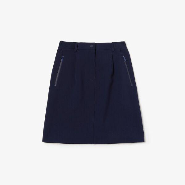 Women's Sporty Neoprene Skirt, NAVY BLUE, hi-res