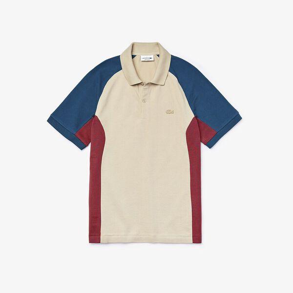 Men's  Colourblock Piqué Polo Shirt, PLAGE/CORRIDA-LEGION, hi-res