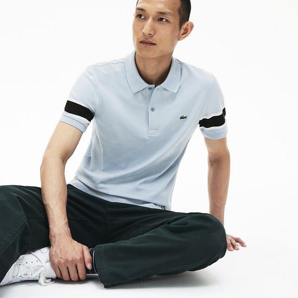 Men's 90S Sportswear Slim Fit Polo, BREEZE/FLOUR-BLACK, hi-res