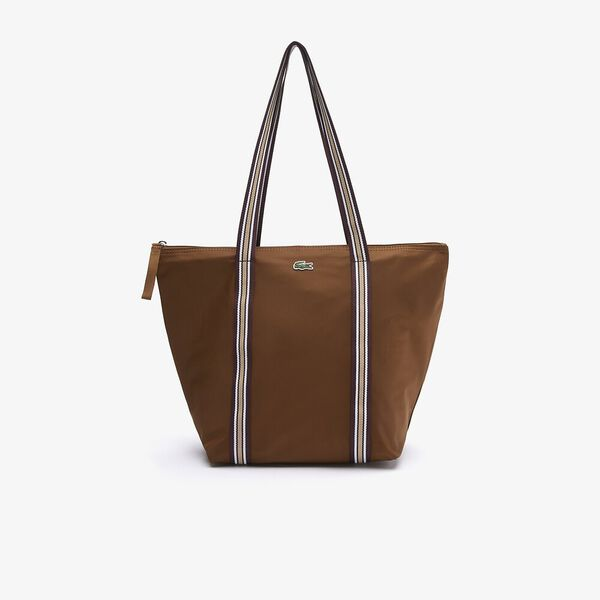 Women's Jeanne Striped Handles Canvas Shopper Bag