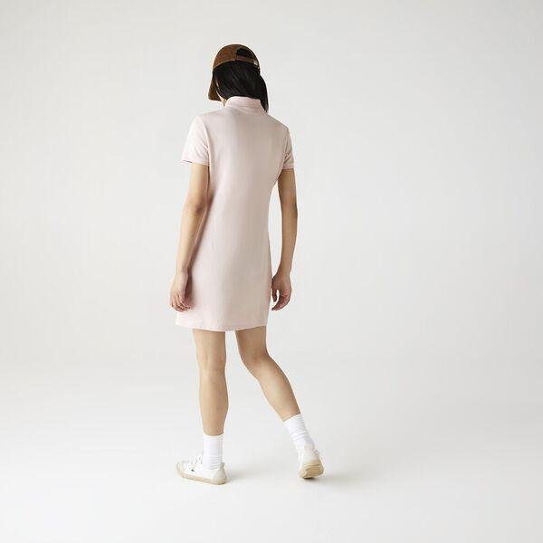Women's Stretch Cotton Polo Dress, NIDUS, hi-res