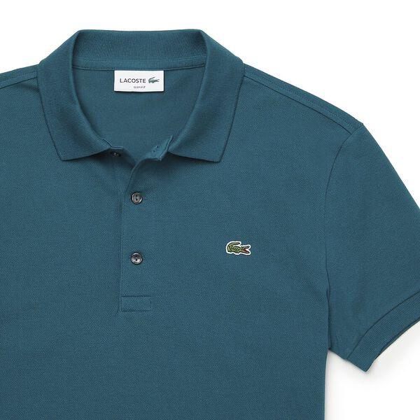 Men's Cotton Piqué Slim Fit Polo, PIN, hi-res