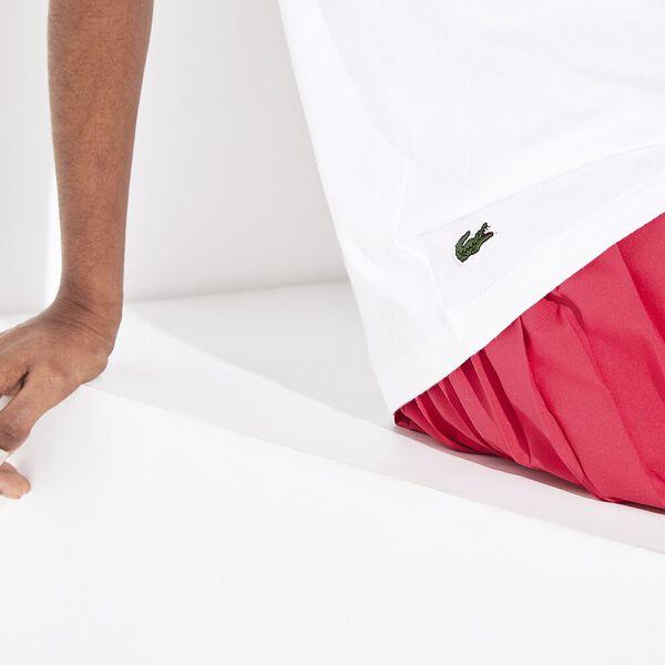 Women's Tennis Logo Jersey Tee, WHITE/CLAFOUTIS-SEA BLUE, hi-res