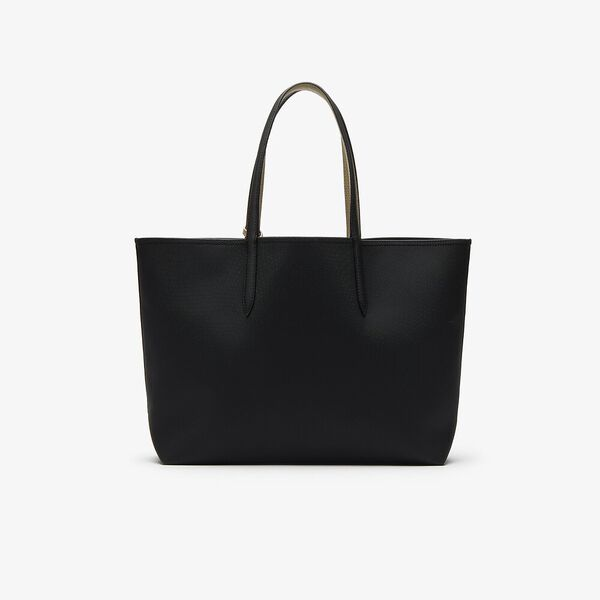 Women's Anna Shopping Bag, BLACK WARM SAND, hi-res