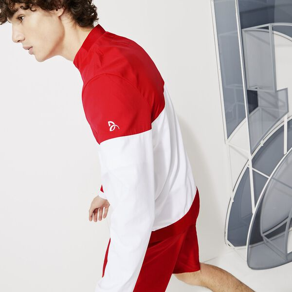 Men's SPORT x Novak Djokovic Colorblock Zip Jacket, WHITE/FIREMAN, hi-res
