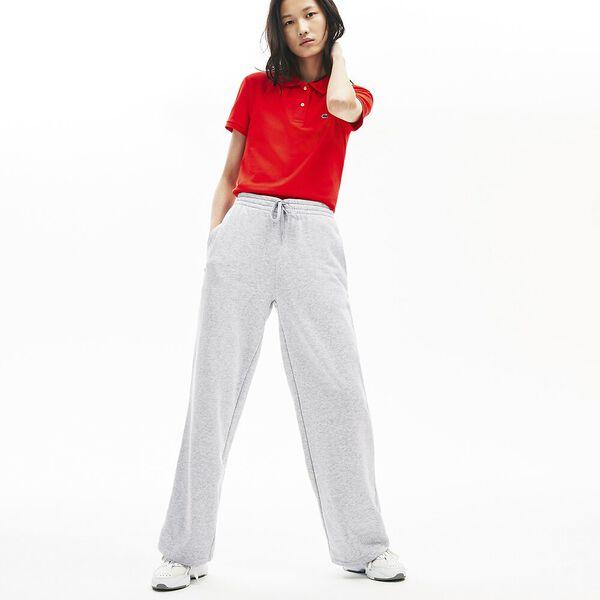 Women's Cotton Fleece Trackpants, SILVER CHINE, hi-res