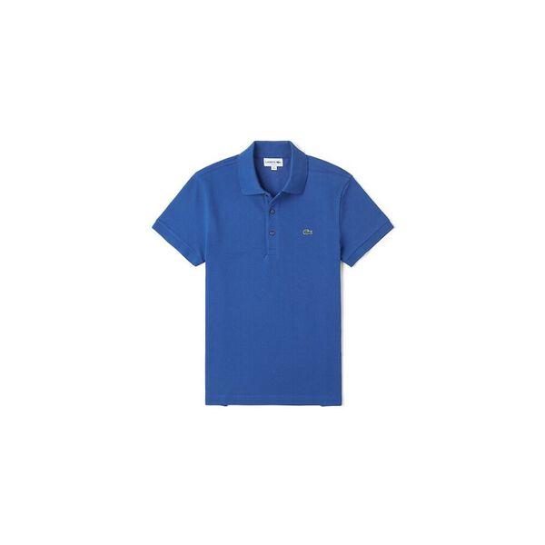 Men's Cotton Piqué Slim Fit Polo, ELECTRIC, hi-res