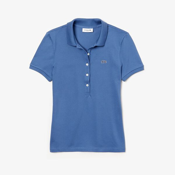 Women's 5 Button Slim Stretch Core Polo, KING, hi-res
