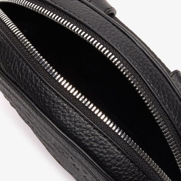 Women's Croco Crew Waist bag, BLACK, hi-res