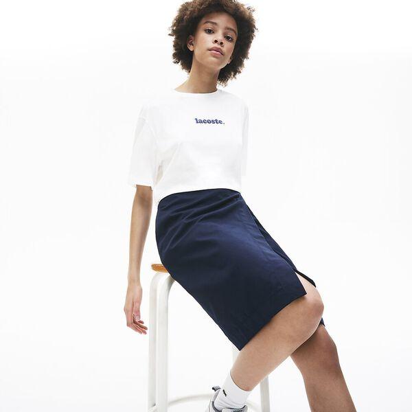Women's Signature Printed Crew Neck Cotton T-shirt