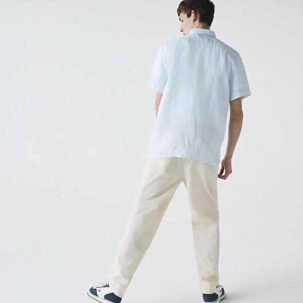 Men's Regular Fit Linen Shirt, RILL, hi-res