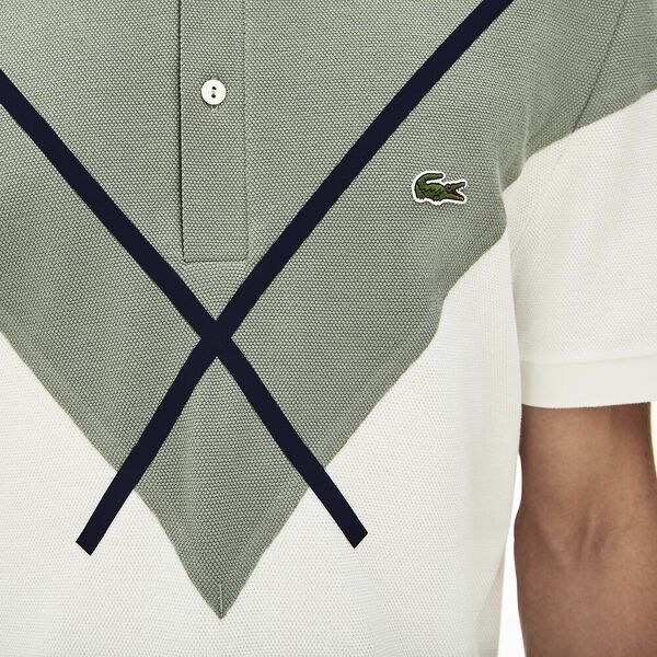 Men's Made In France Reg Fit Polo, FLOUR/SERGEANT-NAVY BLUE, hi-res