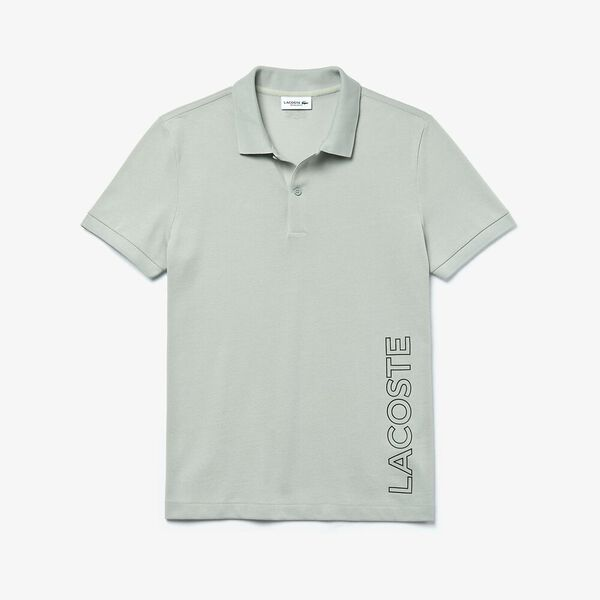 Men's Branded Cotton Polo Shirt, NIMBUS, hi-res