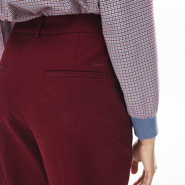 Women's Casual Elegance Cotton Pant, WINE 0, hi-res