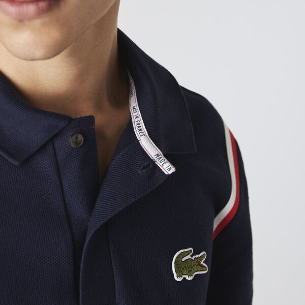 Men's Made In France Organic Cotton Polo Shirt, NAVY BLUE, hi-res
