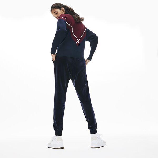Women's Lacoste Motion Pant, NAVY BLUE, hi-res