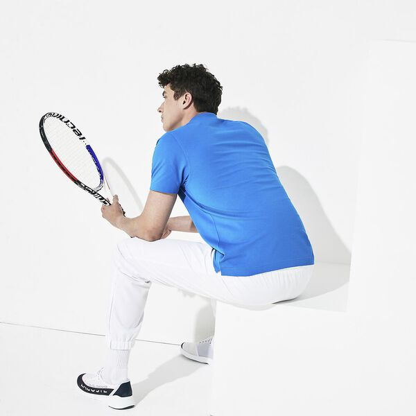 Men's SPORT Tennis regular fit Polo Shirt in ultra-lightweight knit, NATTIER BLUE, hi-res